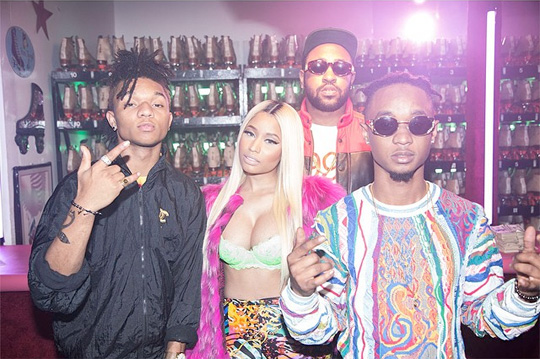 rae-sremmurd-nicki-minaj-young-thug-throw-sum-mo-video-shoot2