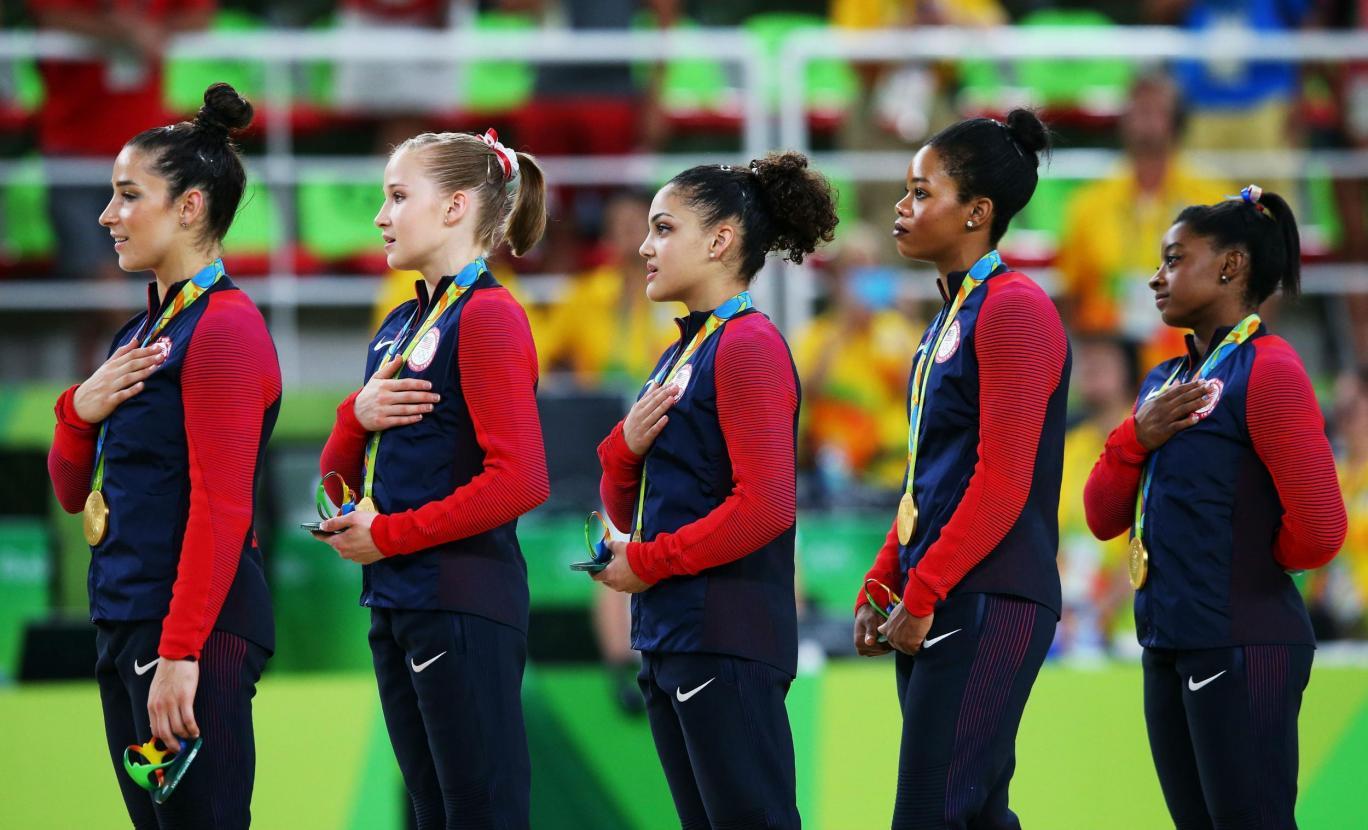 Gabrielle Douglas Hymne Jeux Olympiques Rio
